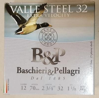 Baschieri & Pellagri Valle Steel 32g Extra Velocity 2,9 mm (25kpl rasia) 12/70