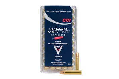 CCI 22 WMR 30 gr TNT JHP Maxi-Mag 50kpl