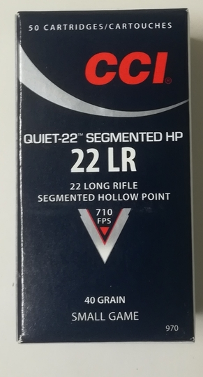 CCI 22lr Quiet-22 segmented hp 40gr 50 ptr