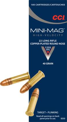 CCI Mini-Mag  2,60 g/40gr (100kpl rasia) .22 LR