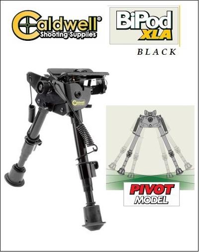 Caldwell XLA BiPod Black, matala ammuntatuki, 15-23cm säädettävä korkeus ja kallistus