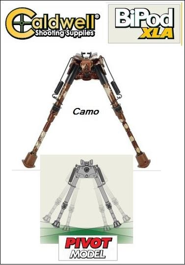Caldwell XLA BiPod Camo, matala ammuntatuki, 33-58cm säädettävä korkeus ja kallistus