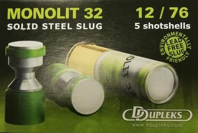 DDupleks Monolit  32g Slug (5kpl rasia) 12/76, teräsluoti