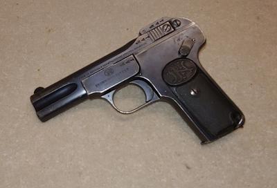 FN Browning, mod 1910, cal 7,65, lupavapaa deco-ase