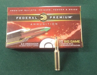 Federal 6,5 Creedmoor, 120 gr kupariluoti