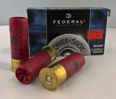 Federal Buckshot 12/70 9,1 mm Power-Shok(5 kpl rasia)