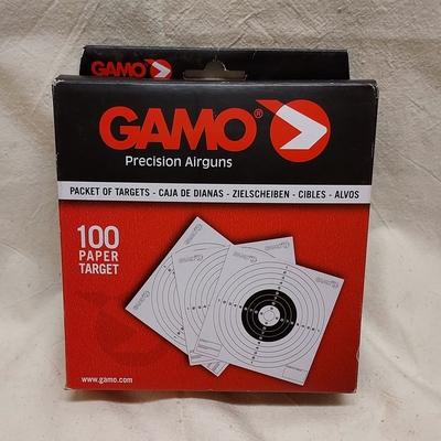 Gamo ilmakivääritaulu, paperia, 100kpl