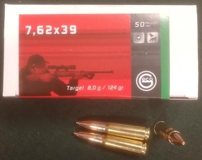 Geco 7,62x39 target 8,0g 50kpl
