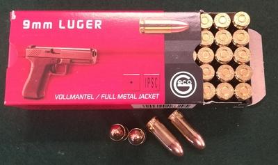 Geco 9mm Luger FMJ 8,0g Tomback Jacket 50kpl