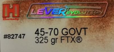 Hornady 45-70 GOVT 325gr FTX