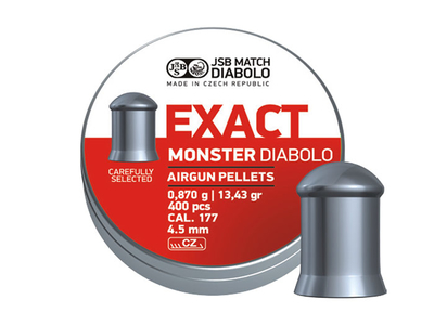JSB Exact monster diabolo 0,870 g | 13,43 gr/ 4.52 mm (400kpl rasia)