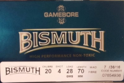 Kent Gamebore Bismuth 20/70 28g #4/3,3mm