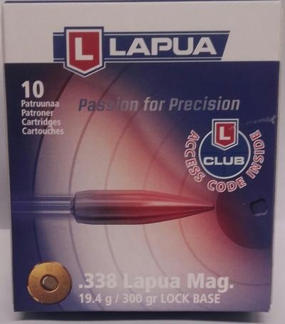 Lapua 338 Lapua Mag Lock Base  19,4g / 300gr 10kpl rasia