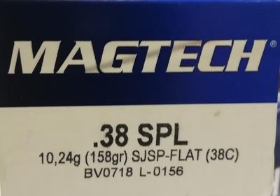 Magtech .38 Special SJSP-FLAT 10,24g / 158gr(50kpl rasia)