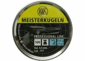 RWS Meisterkugeln 0,45g / 7,0gr ilmapistooliluoti , 4,49 mm