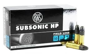 RWS Subsonic HP Field Line LFN 2,6g / 40gr (50kpl rasia) .22 LR