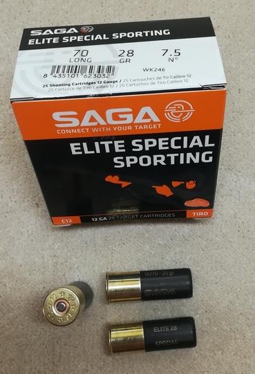 Saga Elite Especial Sporting 28 7,5 2,37mm 425m/s (250 kpl ltk)