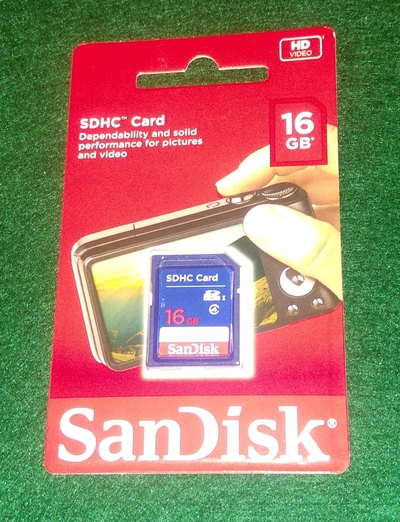 ScanDisk muistikortti, 16 GB