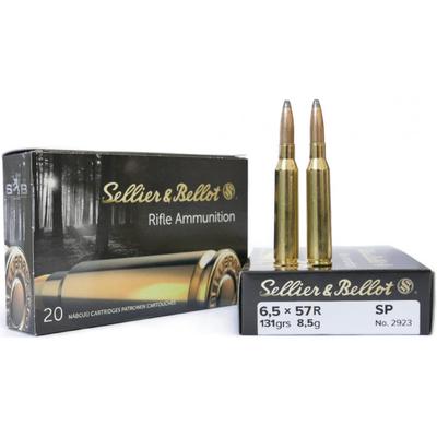 Sellier & Bellot 6,5x57R 8,5g SP, 20ptr Rasia