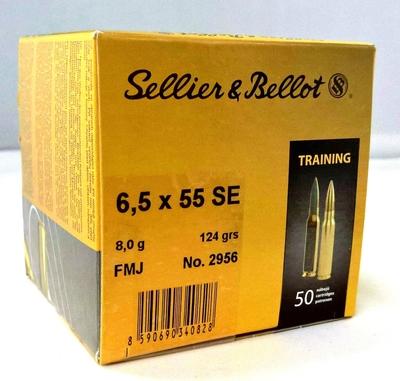 Sellier & Bellot FMJ 8,0g Bulk / 124gr (50kpl rasia) 6,5x55 SE