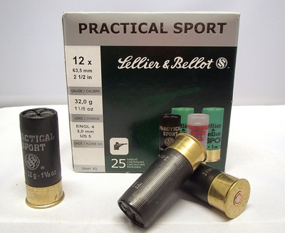 Sellier & Bellot Practical Sport 32g 3,00 mm (25 kpl rasia) 12/63,5
