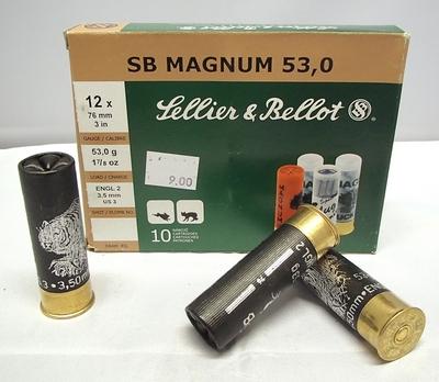 Sellier & Bellot SB Magnum 53g 3,50mm #3 (10kpl rasia) 12/76