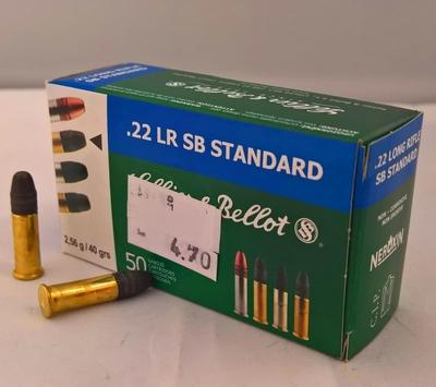 Sellier & Bellot SB Standard LRN 2,56g / 40gr (50kpl rasia) .22 LR