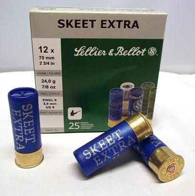 Sellier & Bellot Skeet Extra 9/2,00 mm 24g (25kpl rasia) 12/70