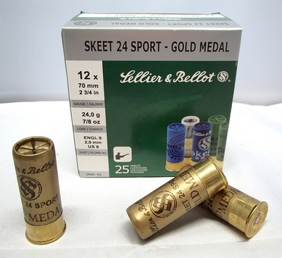 Sellier & Bellot Skeet Gold Medal 9/2,00 mm 24g (25kpl rasia) 12/70