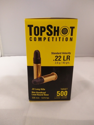 TopShot Competition .22LR 2,6g/40grs 500kpl/pkt