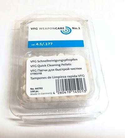 VFG 4,5mm puhdistustulppa 100 kpl rasia