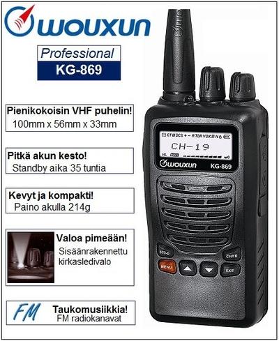 Wouxun KG-869 VHF puhelin