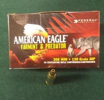 Americn Eagle cal 308 Win, 130 g JHP varmintluoti