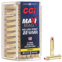 CCI Maxi-Mag JHP 2,59g / 40gr (50kpl rasia) .22 WMR