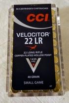 CCI Velocitor GDHP 22 LR 2,6g / 40gr (50kpl rasia)
