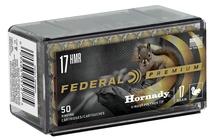 Federal .17 HMR Hornady V-Max  1,10g/17gr (50kpl rasia)