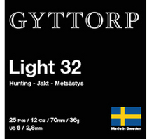 Gyttorp Light 12/70 32g  3,00mm (25 kpl rasia)