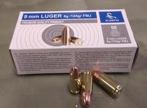 STV   9 mm Luger 8,00g/124gr FMJ (50kpl rasia)