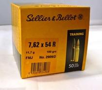 Sellier&Belliot FMJ 11,7 g / 180 grs, cal 7,62 x 54 R,(50 kpl rasia)