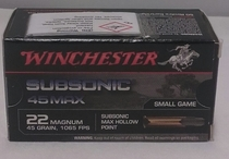 Winchester 22 magnum 45gr subsonic